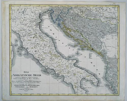 Das Adriatische Meer Nach Der In Mailand In 24 Blatt Erschinenen